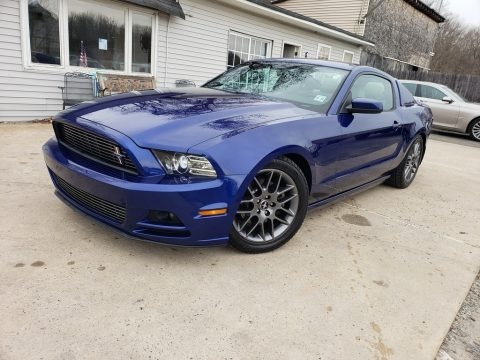 Deep Impact Blue Metallic 2013 Ford Mustang V6 Premium Coupe