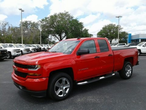 Red Hot 2018 Chevrolet Silverado 1500 Custom Double Cab