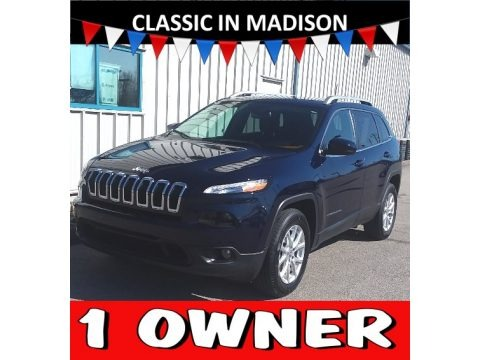 True Blue Pearl 2016 Jeep Cherokee Latitude 4x4