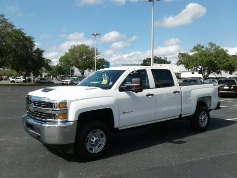 Summit White 2018 Chevrolet Silverado 2500HD Work Truck Crew Cab 4x4