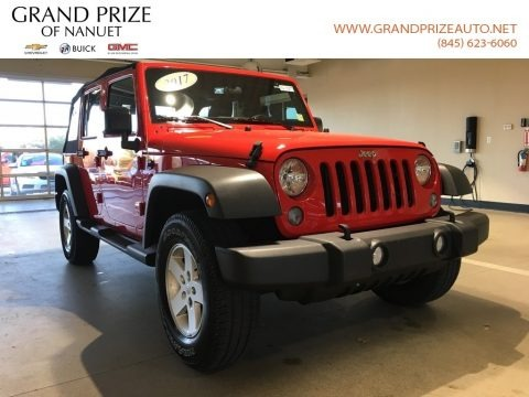 Firecracker Red 2017 Jeep Wrangler Unlimited Sport 4x4