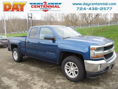 Deep Ocean Blue Metallic 2018 Chevrolet Silverado 1500 LT Double Cab 4x4