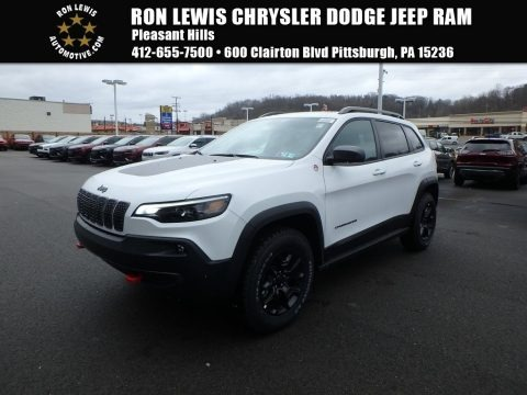 Bright White 2019 Jeep Cherokee Trailhawk 4x4