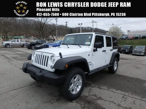 Bright White 2018 Jeep Wrangler Unlimited Sport 4x4