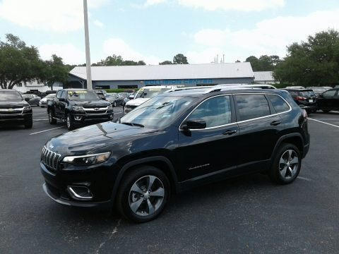 Diamond Black Crystal Pearl 2019 Jeep Cherokee Limited