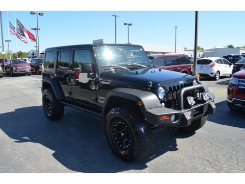Black 2017 Jeep Wrangler Unlimited Sport 4x4