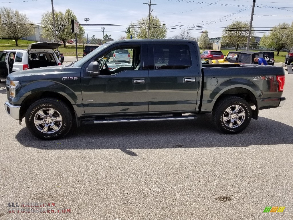 2015 F150 XLT SuperCrew 4x4 - Green Gem Metallic / Medium Earth Gray photo #1