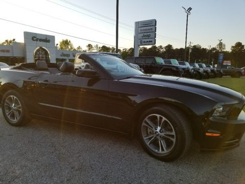 Black 2013 Ford Mustang V6 Premium Convertible