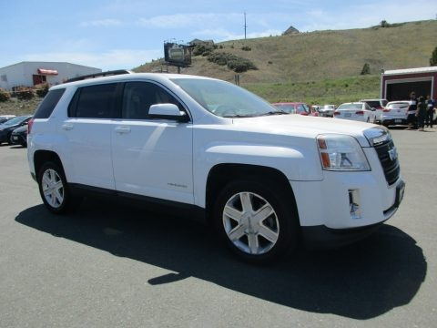 Olympic White 2011 GMC Terrain SLT AWD