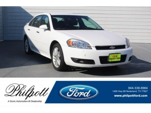 Summit White 2013 Chevrolet Impala LTZ