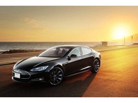 Black 2013 Tesla Model S P85 Performance