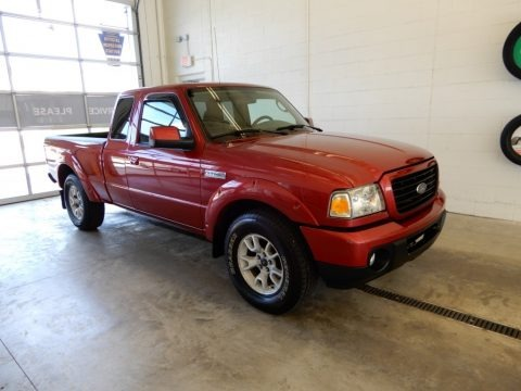 Redfire Metallic 2008 Ford Ranger Sport SuperCab 4x4