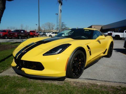 Corvette Racing Yellow Tintcoat 2018 Chevrolet Corvette Grand Sport Coupe