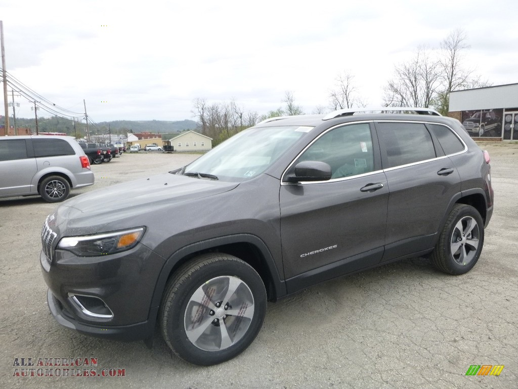 2019 Cherokee Limited 4x4 - Granite Crystal Metallic / Black photo #1