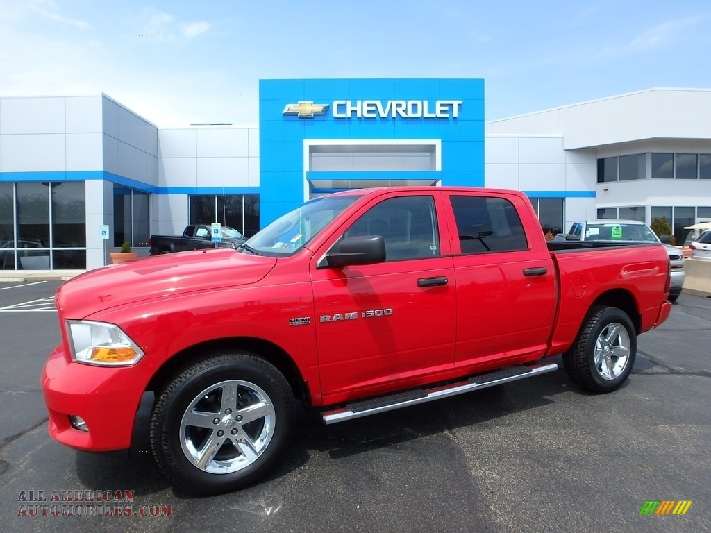 2012 dodge ram 1500 express crew cab 4x4 in flame red 263423 all american automobiles buy. Black Bedroom Furniture Sets. Home Design Ideas