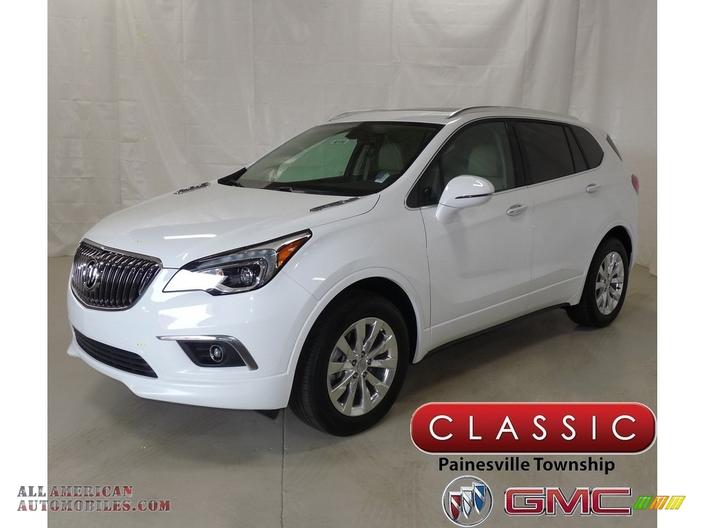 2018 Envision Essence AWD - Summit White / Light Neutral photo #1