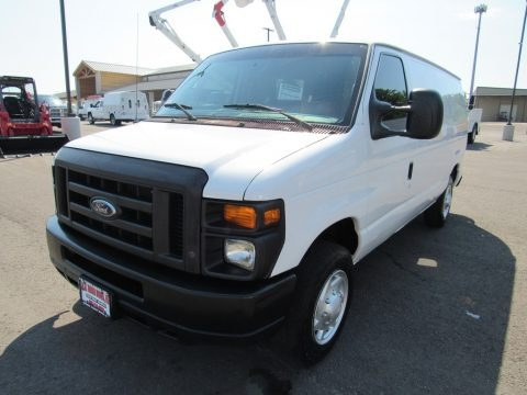 Oxford White 2011 Ford E Series Van E150 Commercial