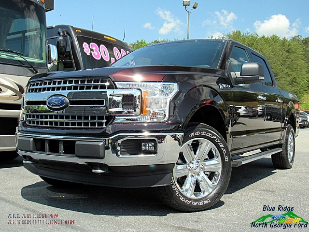 2018 Ford F150 Xlt Supercrew 4x4 In Magma Red C85863