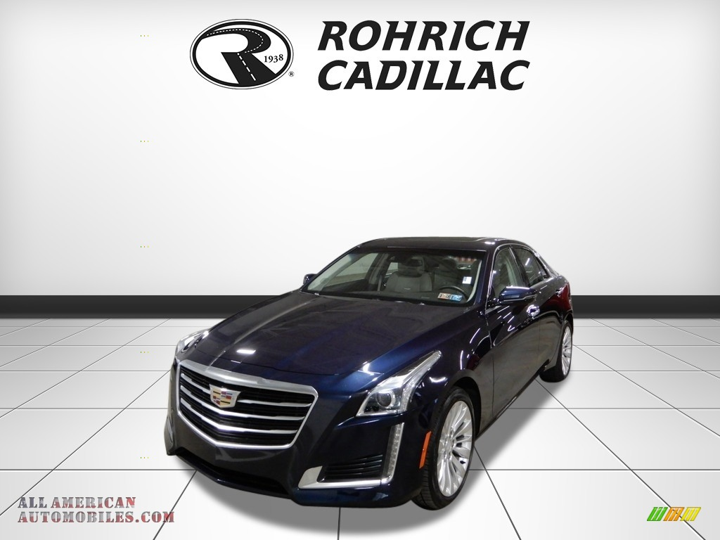 2015 CTS 2.0T Luxury AWD Sedan - Dark Adriatic Blue Metallic / Light Platinum/Jet Black photo #1