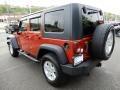 Jeep Wrangler Unlimited X 4x4 Sunburst Orange Pearl photo #3