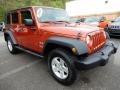 Jeep Wrangler Unlimited X 4x4 Sunburst Orange Pearl photo #9