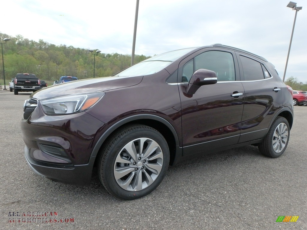 Black Cherry Metallic / Ebony Buick Encore Preferred