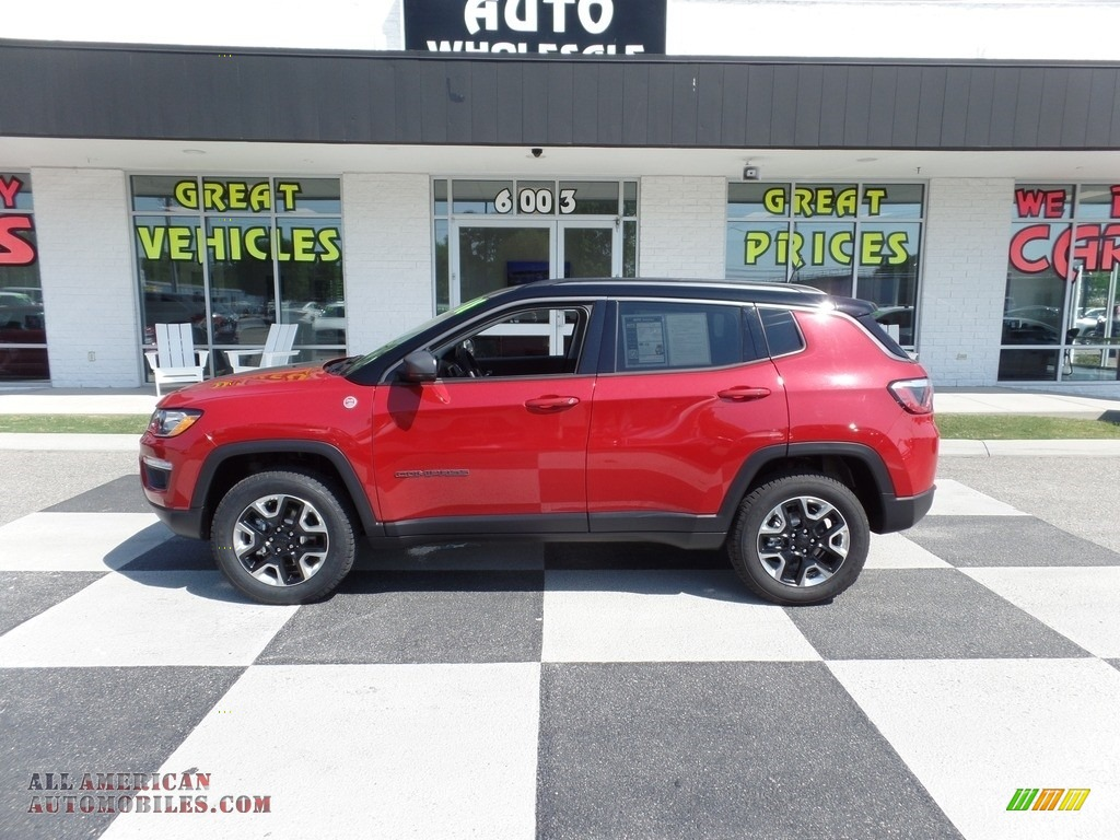 2018 Compass Trailhawk 4x4 - Redline Pearl / Black/Ruby Red photo #1