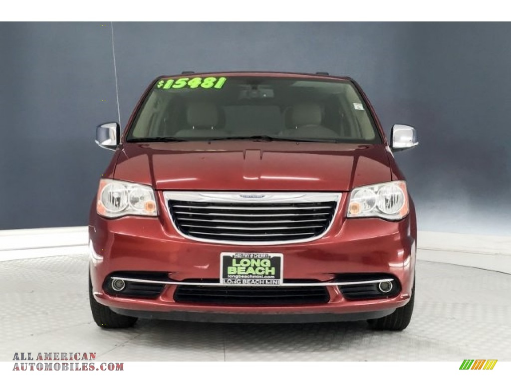 2014 Town & Country Touring-L - Deep Cherry Red Crystal Pearl / Dark Frost Beige/Medium Frost Beige photo #2