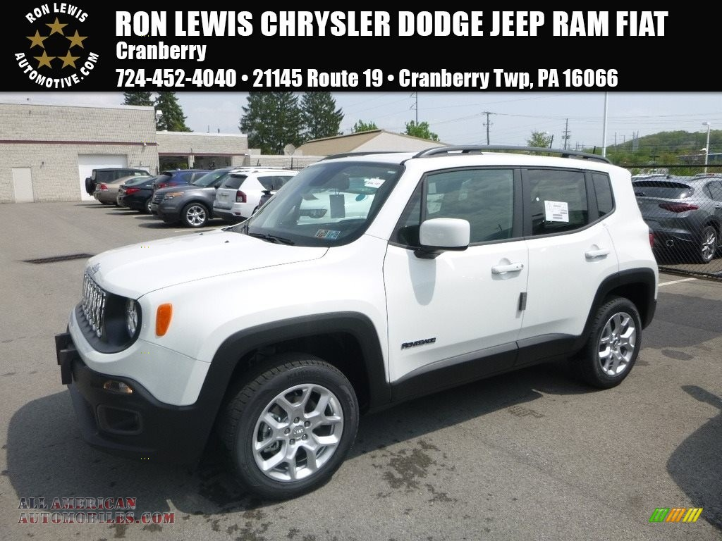 2018 Renegade Latitude 4x4 - Alpine White / Black photo #1