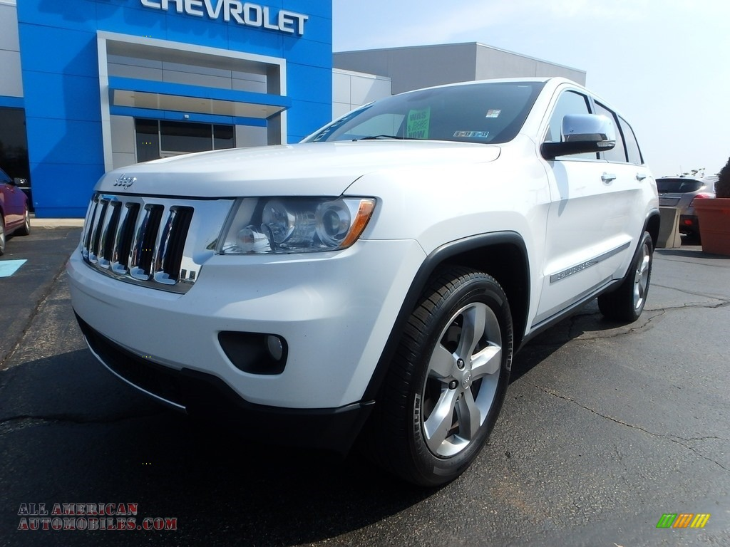 2013 Grand Cherokee Limited 4x4 - Bright White / Black/Light Frost Beige photo #2