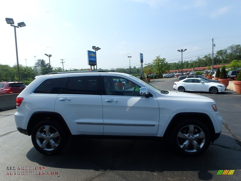 2013 Grand Cherokee Limited 4x4 - Bright White / Black/Light Frost Beige photo #10