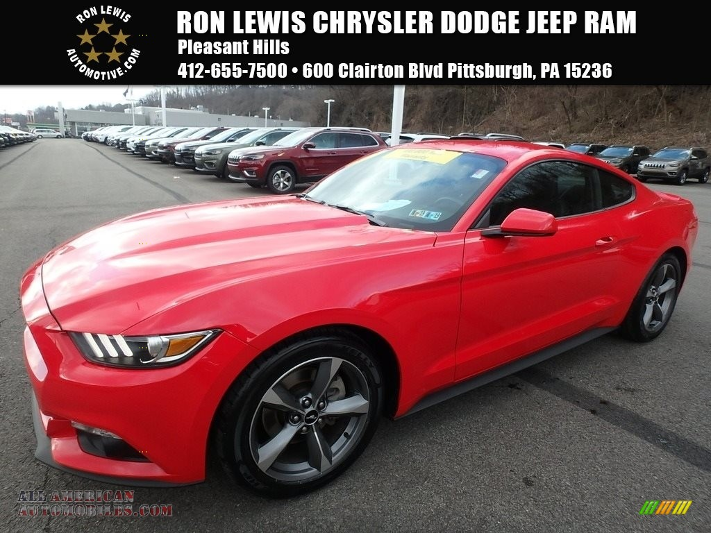 2015 Mustang V6 Coupe - Race Red / Ebony photo #1