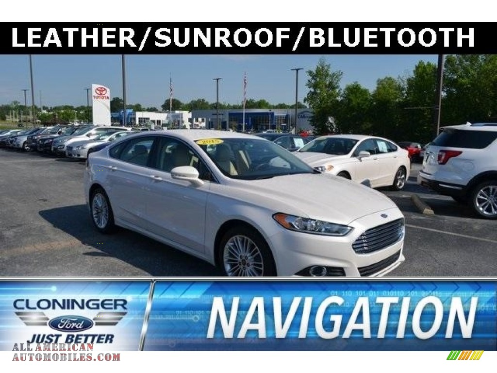 2015 Fusion SE - Oxford White / Dune photo #1