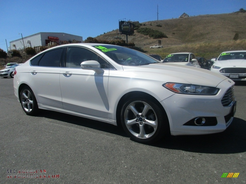 2014 Fusion SE - White Platinum / Charcoal Black photo #1