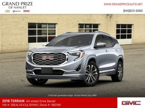 Satin Steel Metallic 2018 GMC Terrain Denali AWD