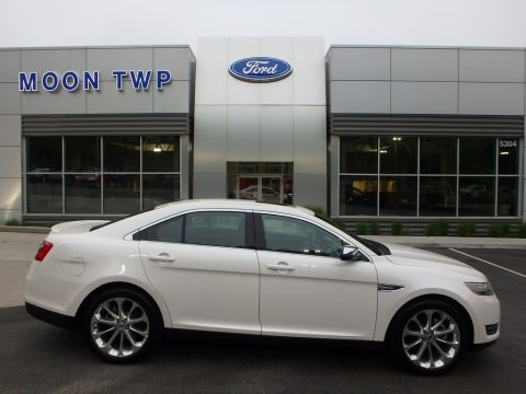 White Platinum 2017 Ford Taurus Limited AWD