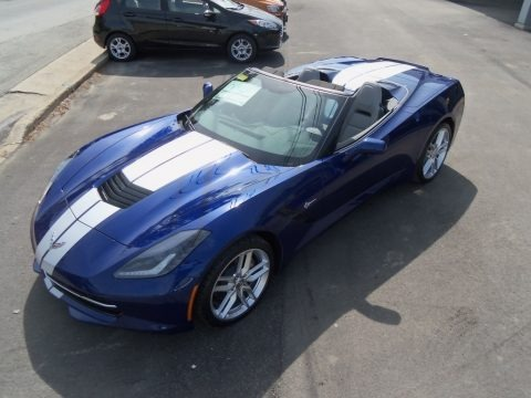 Admiral Blue Metallic 2019 Chevrolet Corvette Stingray Convertible