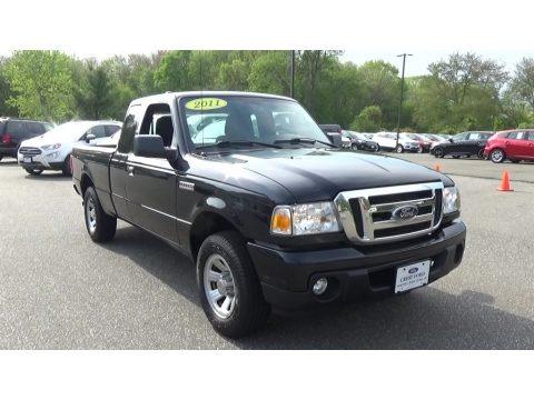 Black 2011 Ford Ranger XLT SuperCab