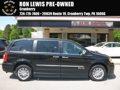 Brilliant Black Crystal Pearl 2015 Chrysler Town & Country Touring-L