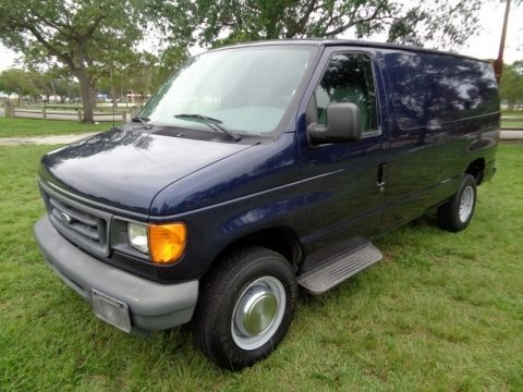 True Blue Metallic 2006 Ford E Series Van E250 Commercial