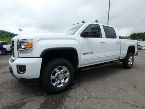 Summit White 2018 GMC Sierra 2500HD SLT Crew Cab 4x4