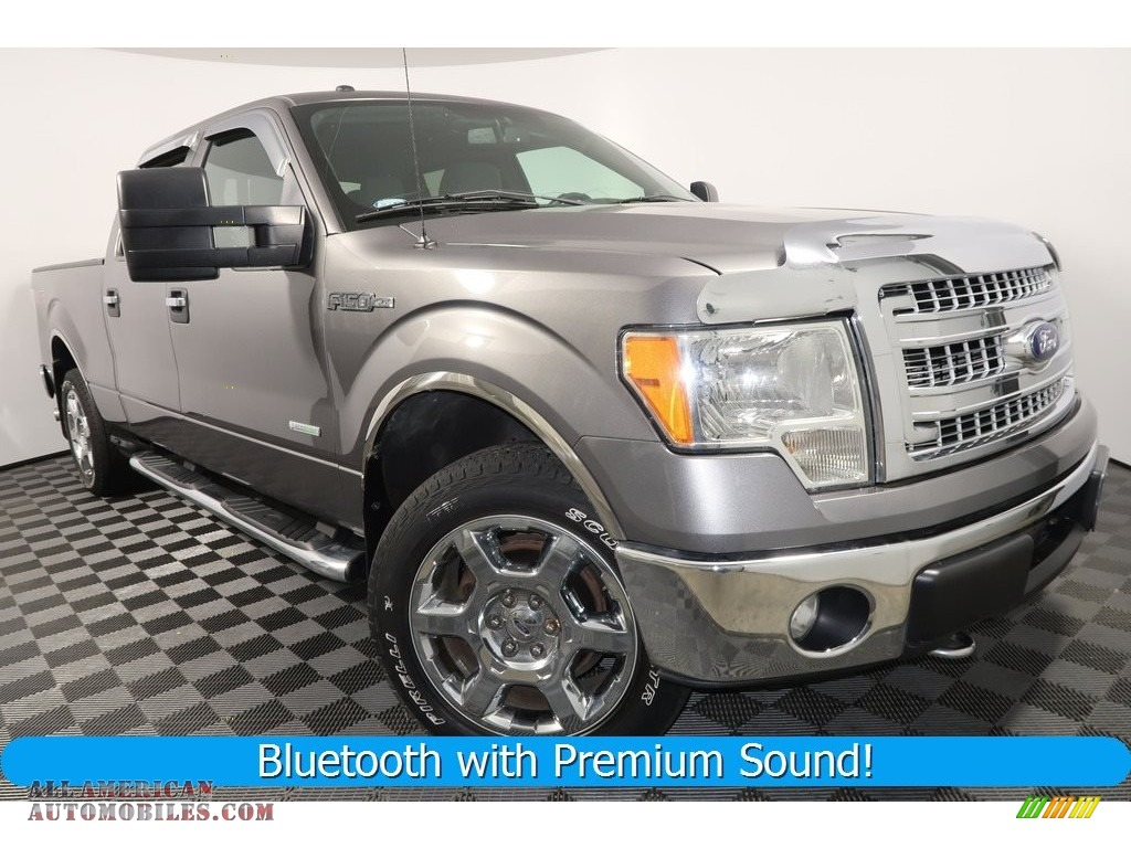 2013 F150 XLT SuperCrew 4x4 - Sterling Gray Metallic / Steel Gray photo #1