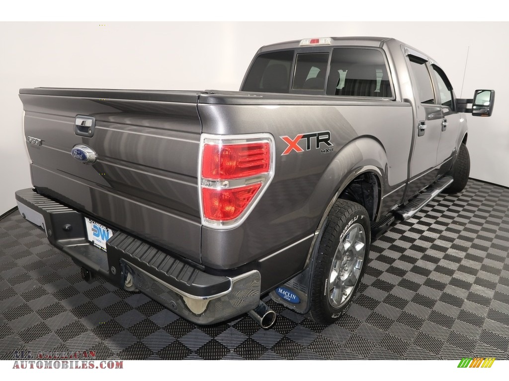2013 F150 XLT SuperCrew 4x4 - Sterling Gray Metallic / Steel Gray photo #10