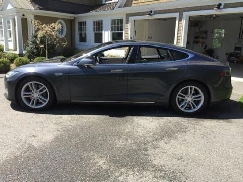 Midnight Silver Metallic 2015 Tesla Model S 85D