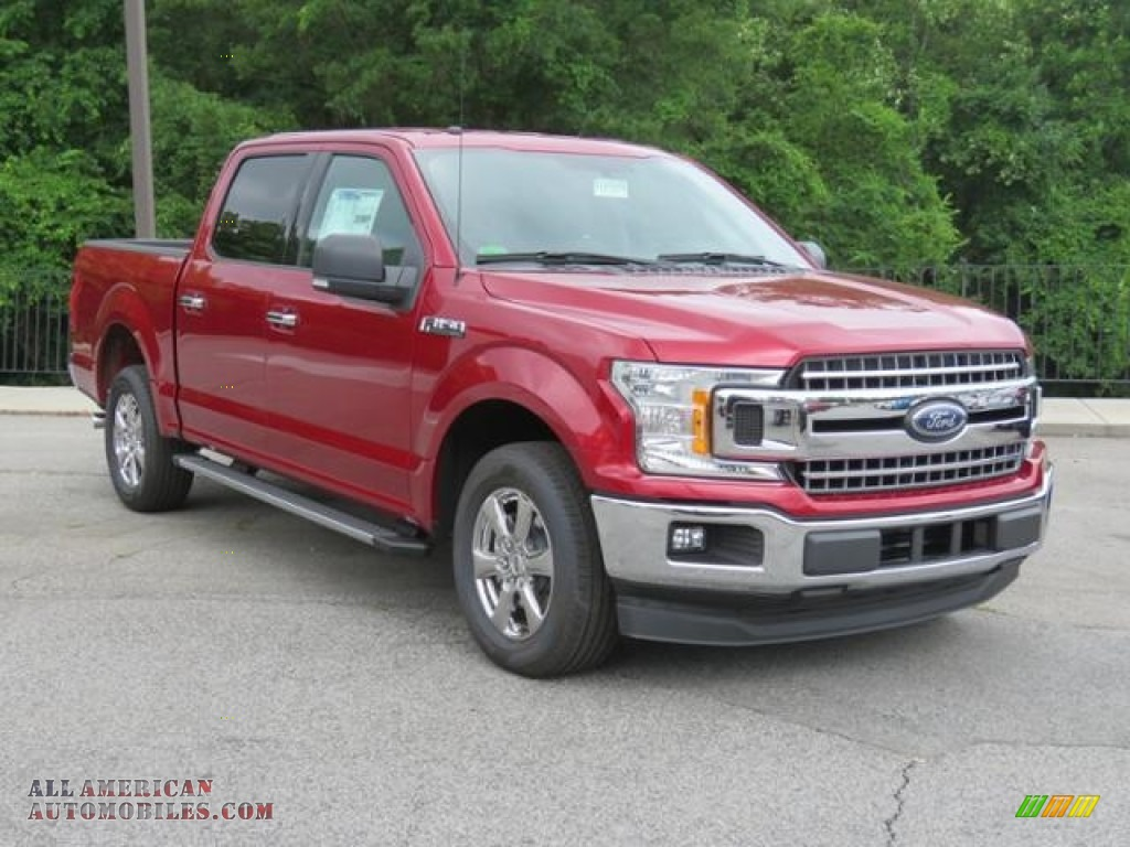 2018 F150 XLT SuperCrew - Ruby Red / Earth Gray photo #1