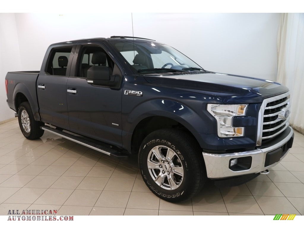 2016 F150 XLT SuperCrew 4x4 - Blue Jeans / Medium Earth Gray photo #1