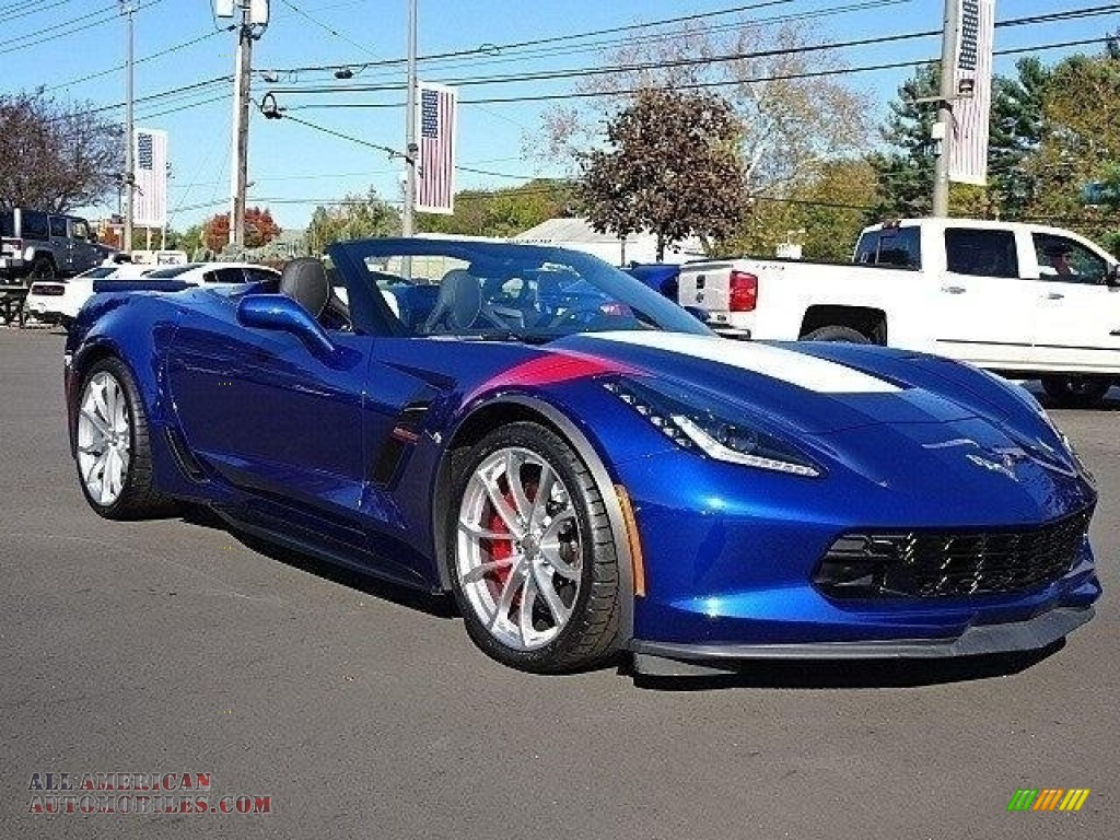 Admiral Blue / Jet Black Chevrolet Corvette Grand Sport Convertible