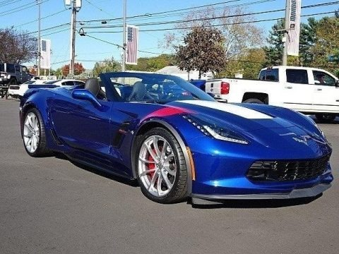 Admiral Blue 2017 Chevrolet Corvette Grand Sport Convertible