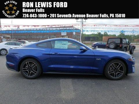 Lightning Blue 2018 Ford Mustang GT Fastback