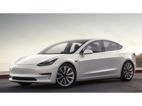 Pearl White Multi-Coat 2018 Tesla Model 3 Long Range